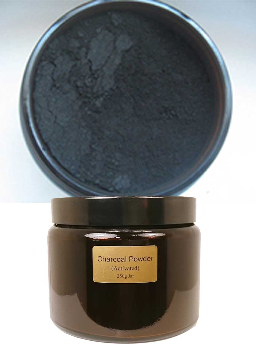 Activated Charcoal Powder - IN GLASS JAR (6oz / 170g)